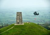 Glastonbury stone helicopters RNAS Yeovilton