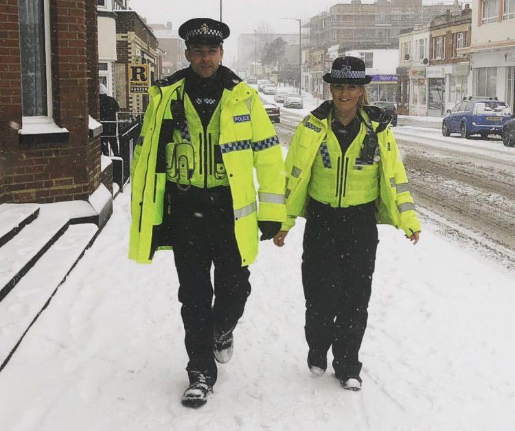 Dorset police snow