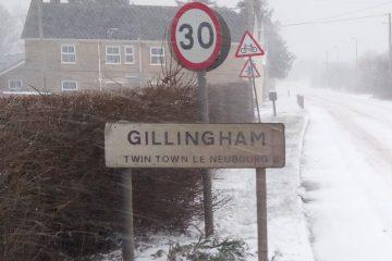 snow Gillingham Dorset