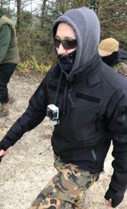 hunt supporter attack Tarrant Gunville
