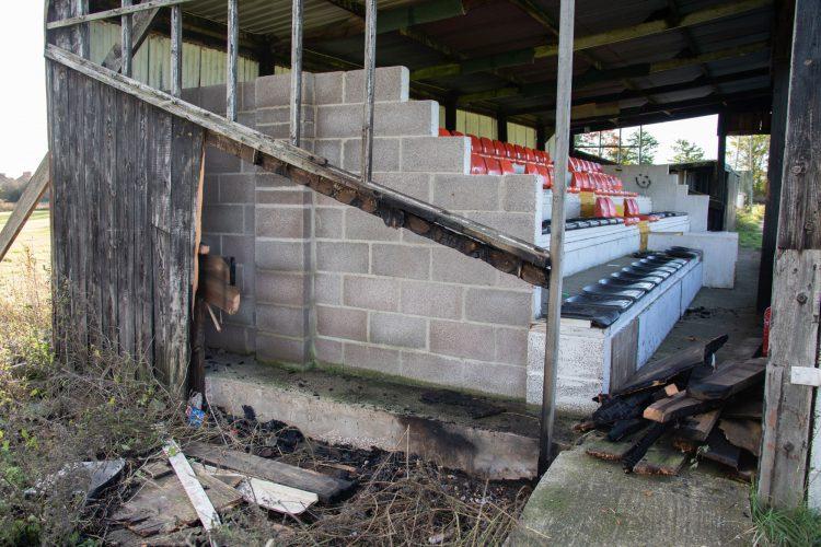 Gillingham Town FC fire