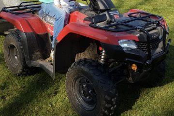 stolen quad bike