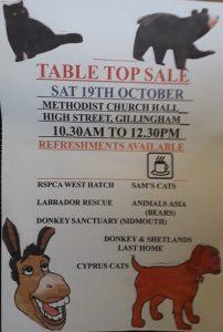animal table top sale